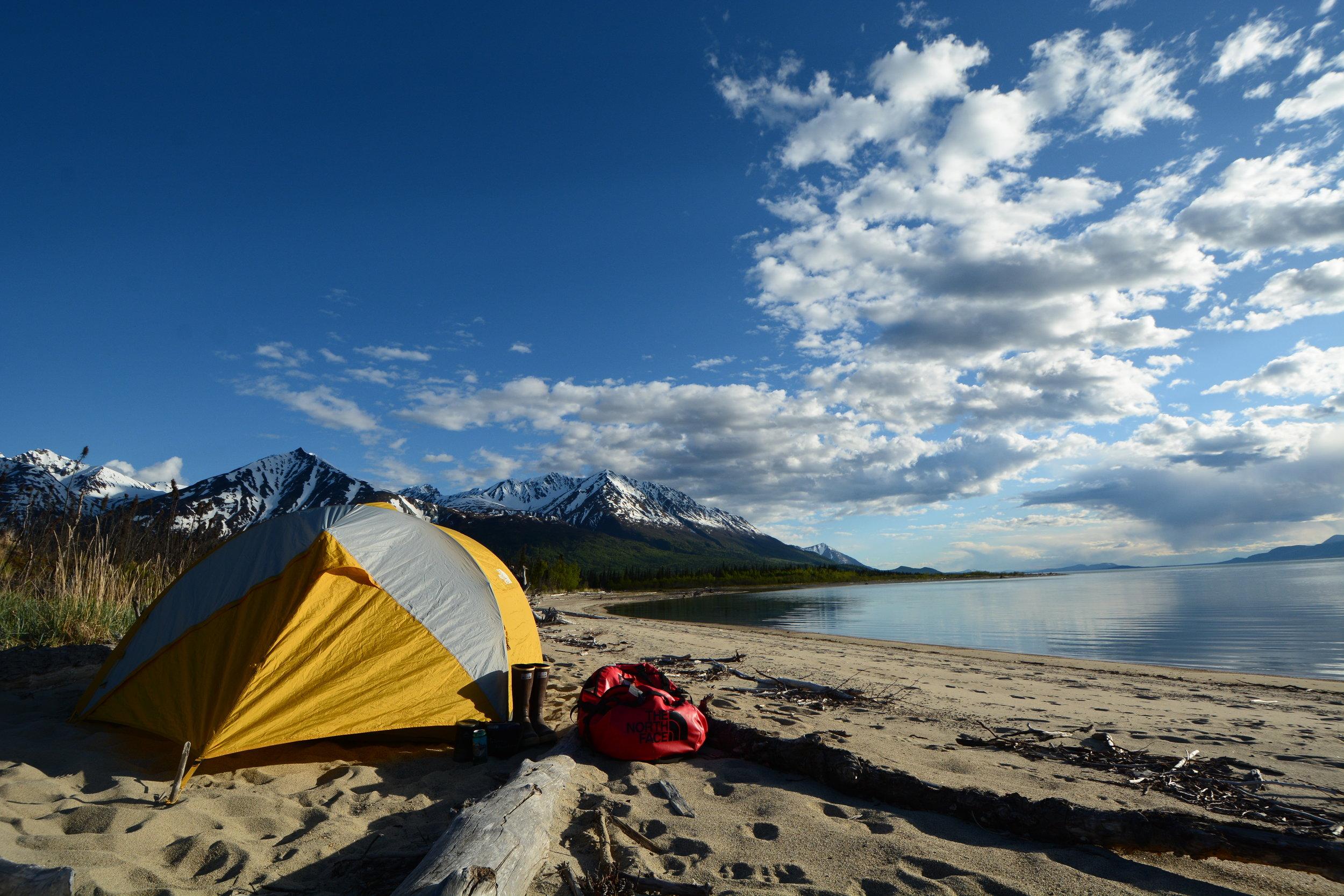 camping on lake clark