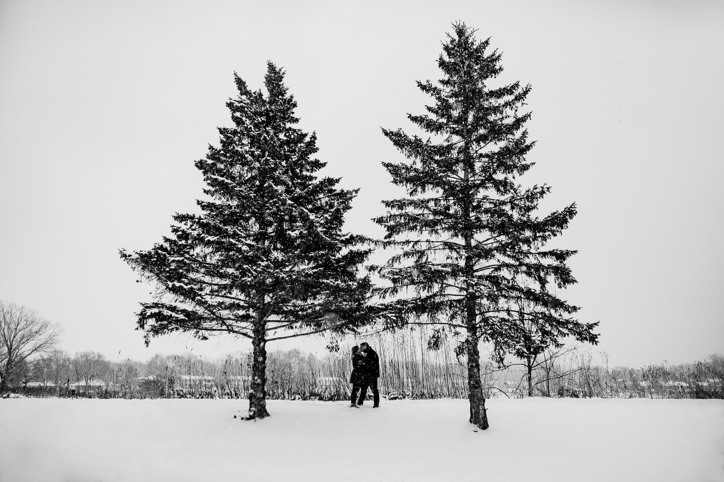 madison snow engagement