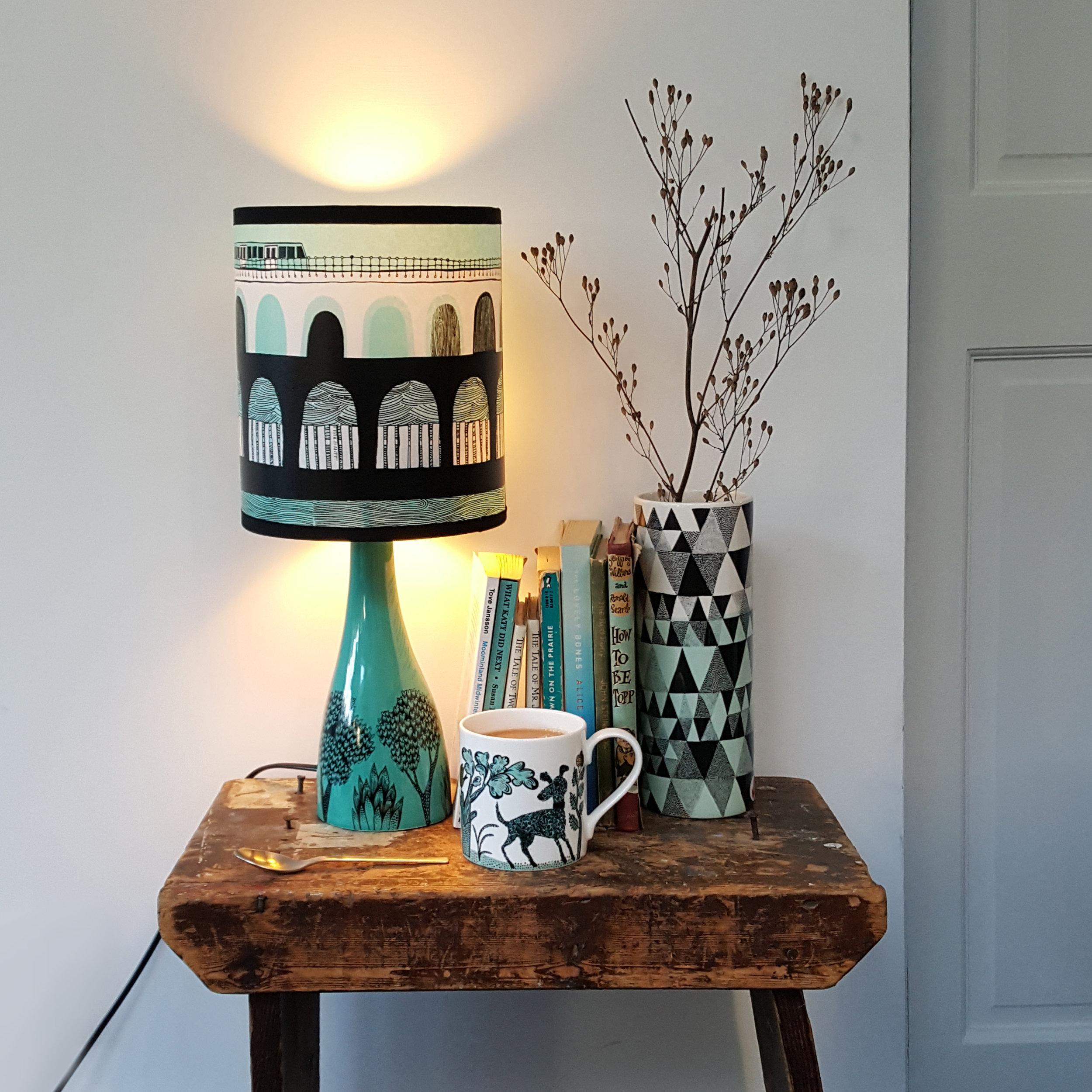 Deptford - Lush Designs DLR lamp triangle vase lifestyle