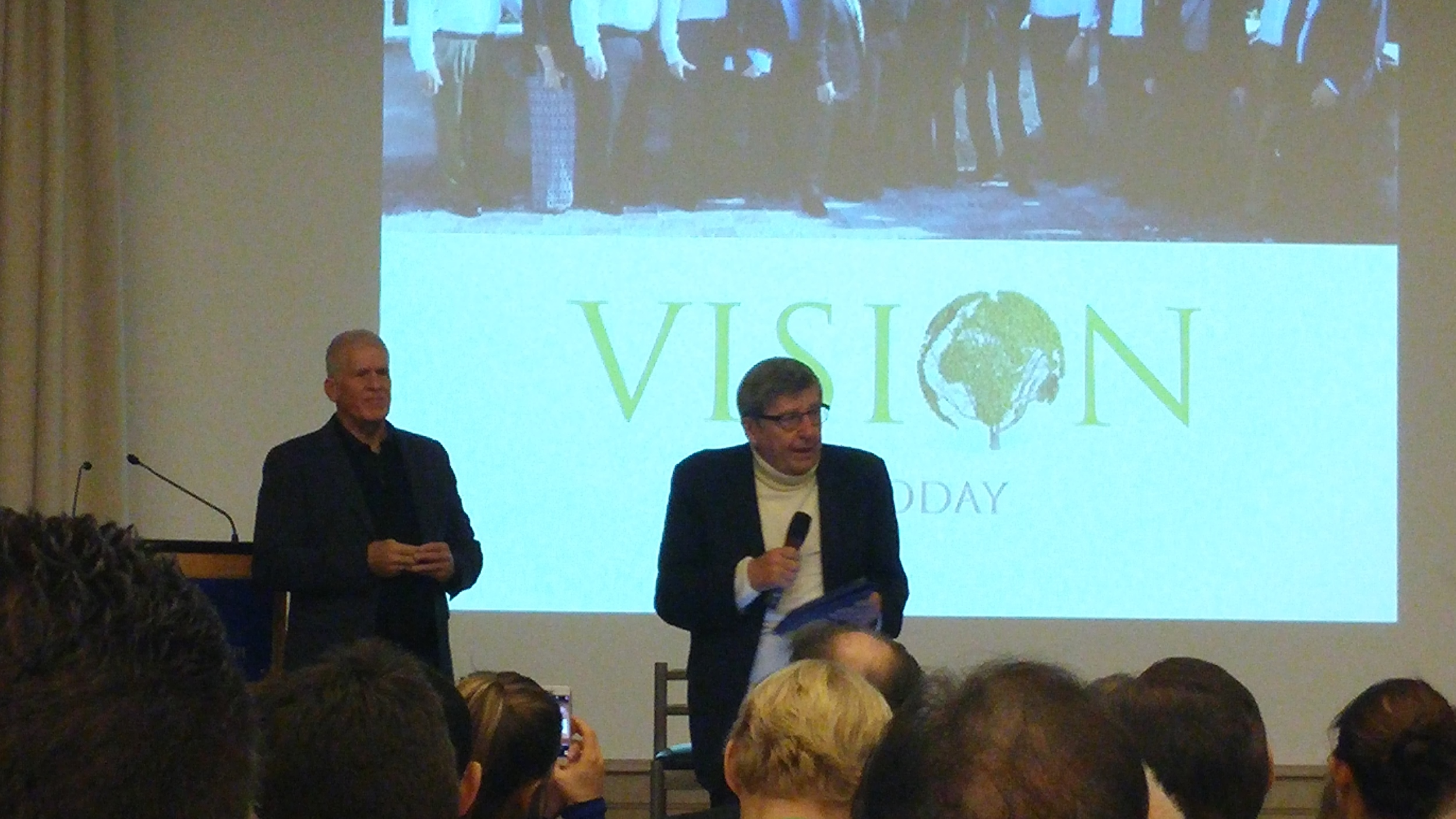 Guy Riekeman e Vincenzo Scotti.