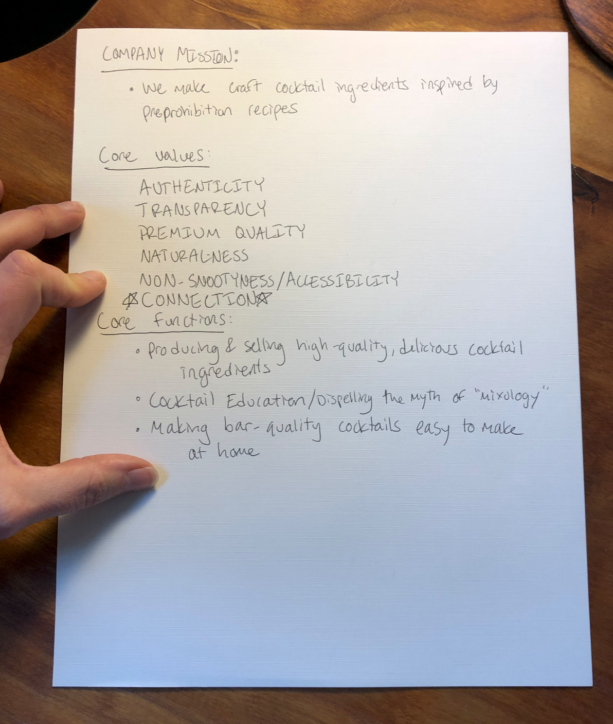 An example of our Founder's poor handwriting.