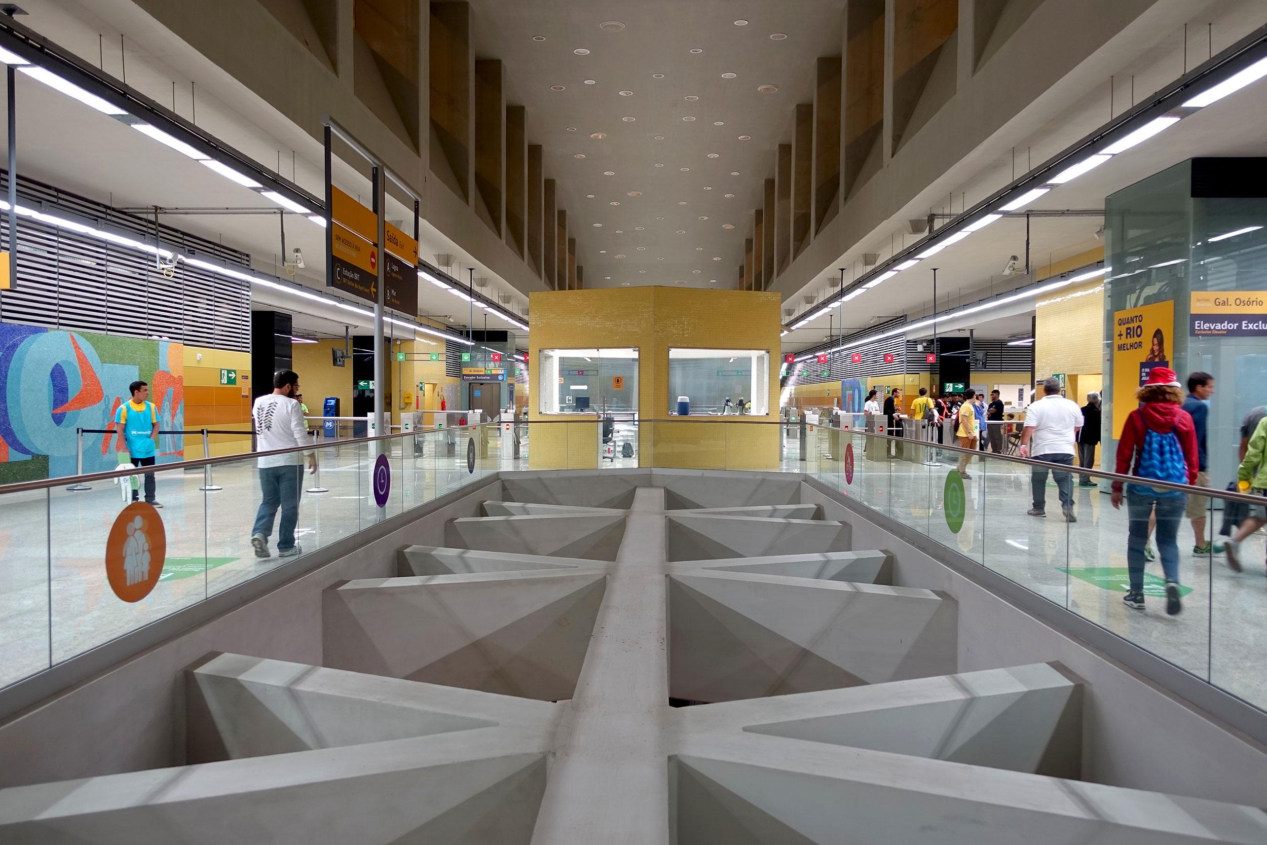 The new metro station in Rio's west zone Barra da Tijuca