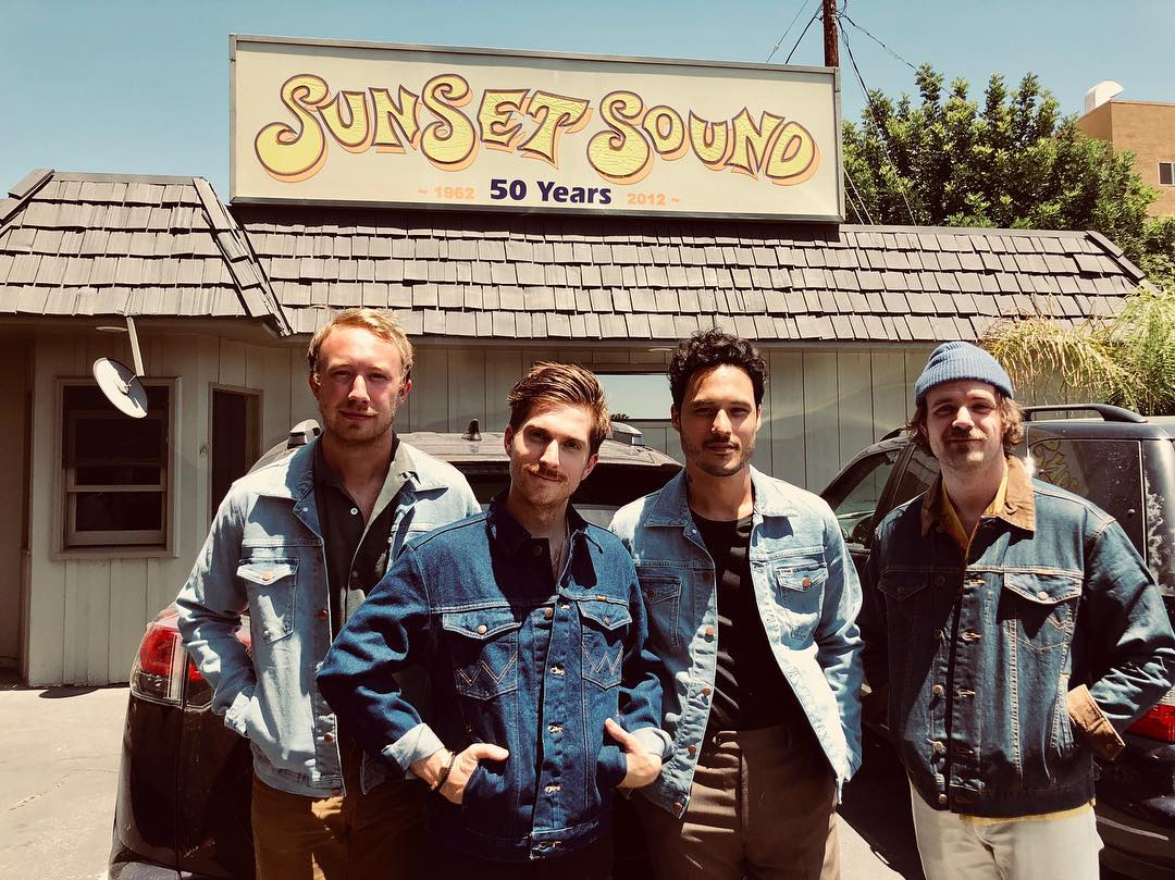 Wilderado outside of Sunset Sound in Los Angeles, CA. Photo gently lifted from  their Instagram .