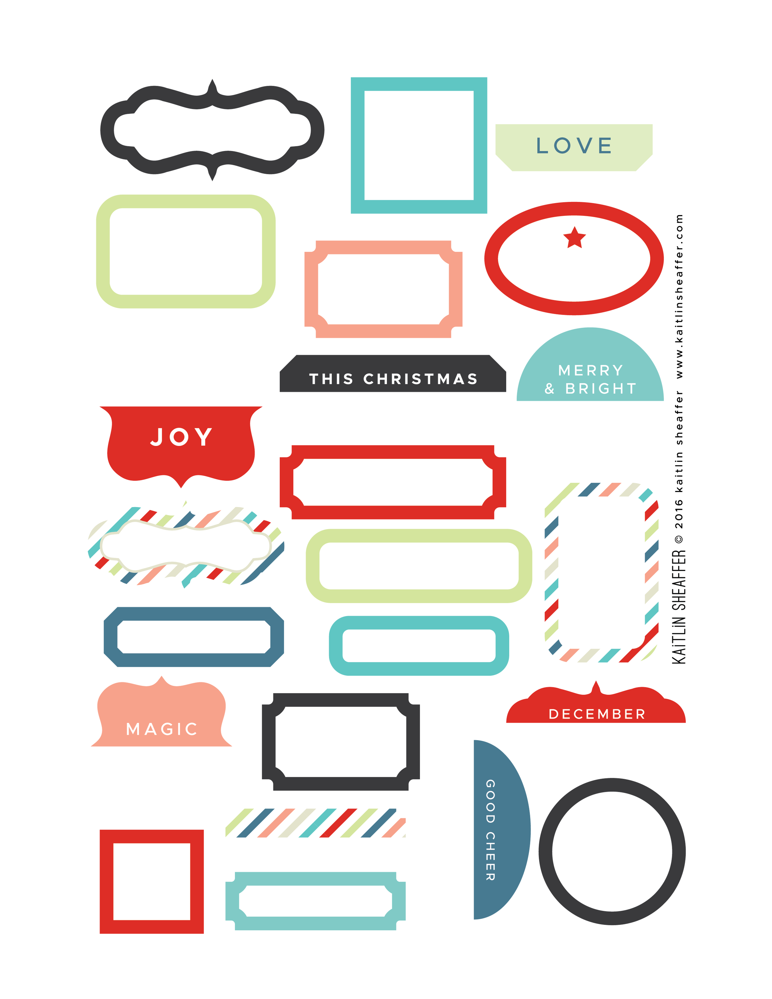 Label Series // Christmas Brights