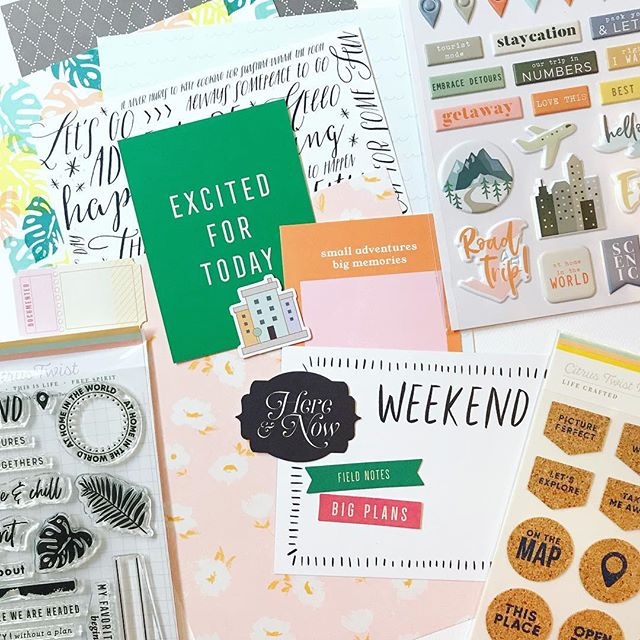 Lots of fun pieces in the May @citrustwistkits Life Crafted kit! Can't wait to dive in and document some of our adventures!