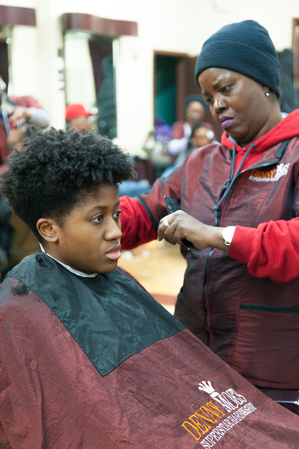 Carol is putting in that work! My tapered cut is coming together.