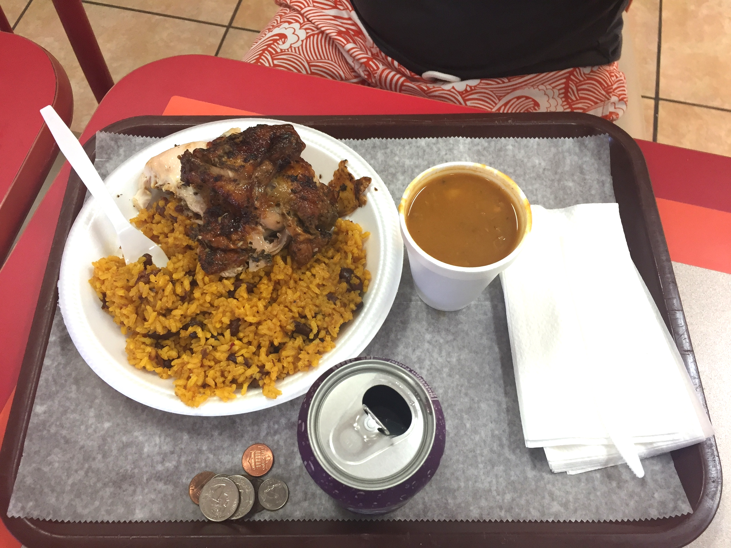 Half Chicken+ Rice+ Beans from La Familia Bakery in Rio Grande, PR. My platter went for about $5-6 and boy was it delicious!