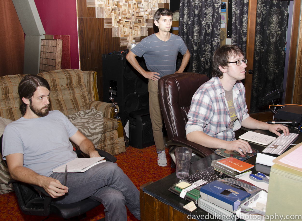 Seth Barden producing Coconut Husband for The Brand New Life at Bit Heart Studios in Greensboro with Will Stephens and our drummer/6th grade homie Daniel Yount. August 2013.