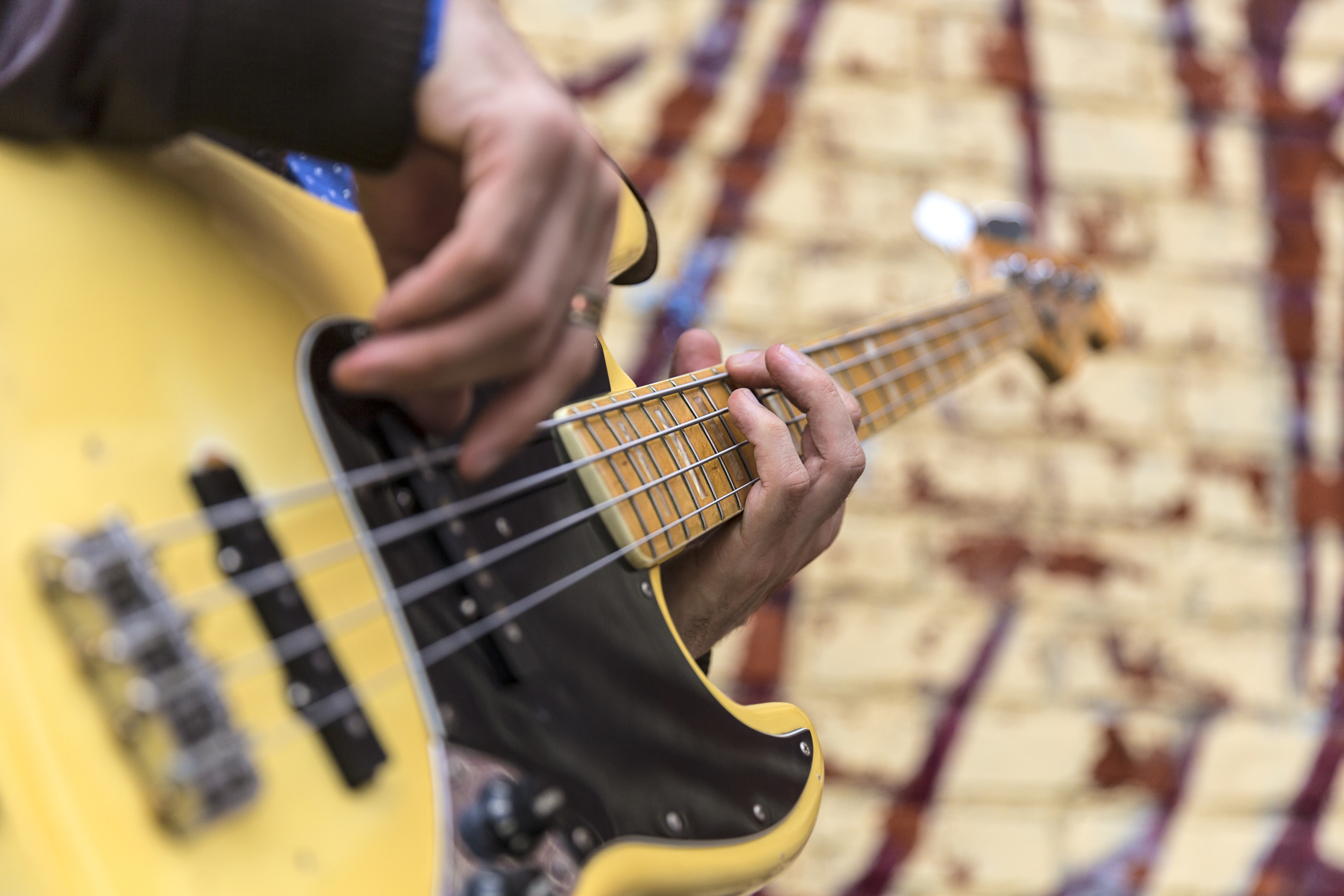 Seth Barden playing his 1979 Fender Jazz bass.