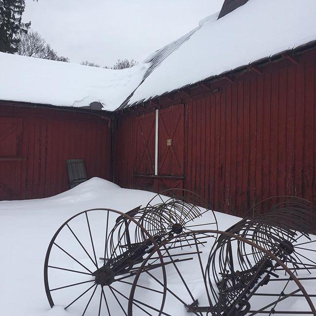 Winter barn in Catskill!  #winter #snow #upstate