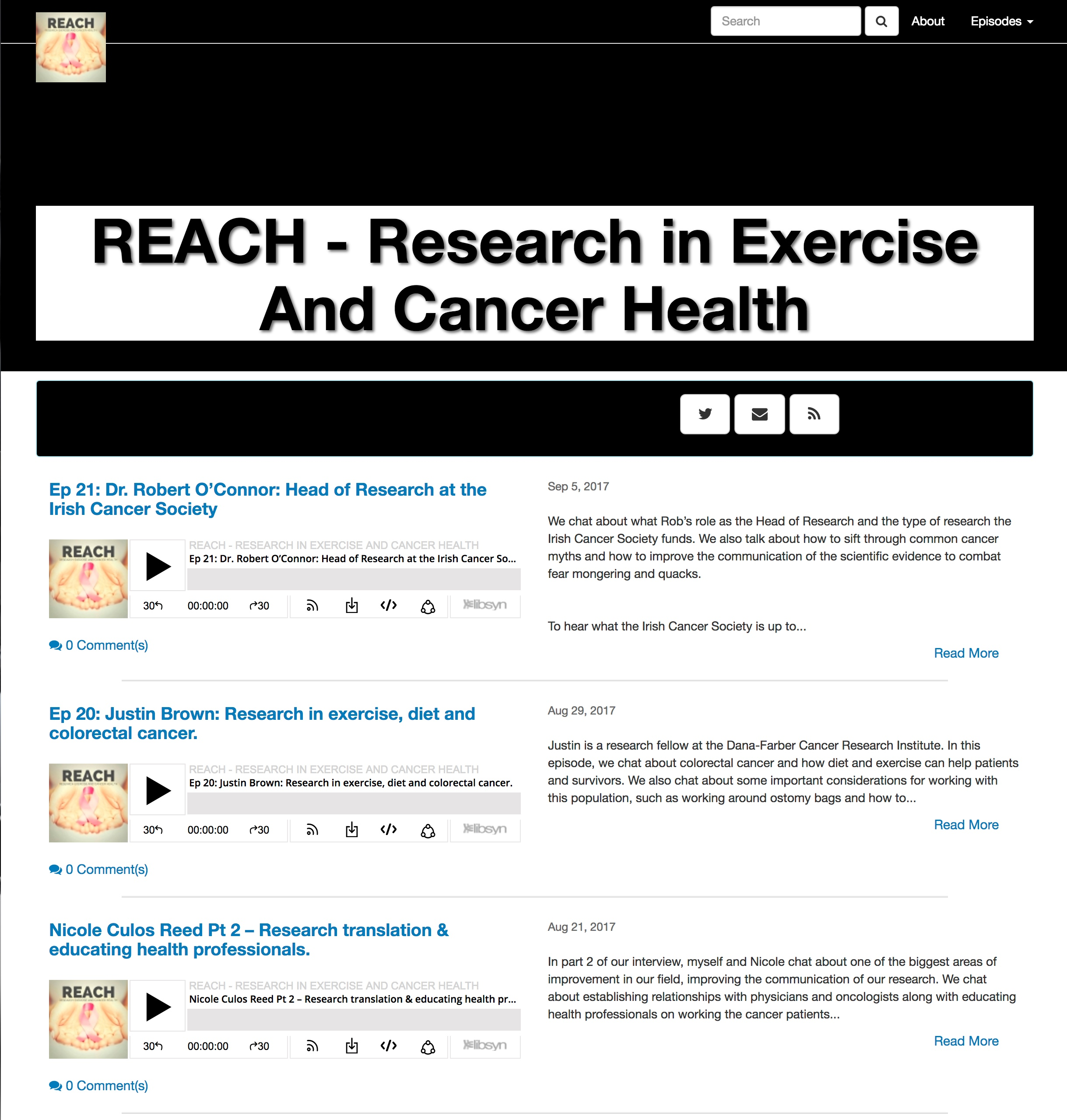 Reach - Research in Exercise and Cancer Health -