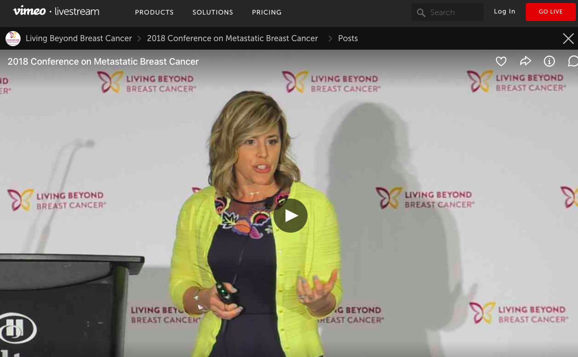 Living Beyond Cancer Live Stream - Sami presents at the LBBC conference on exercise and nutrition and it's role in survivorship.