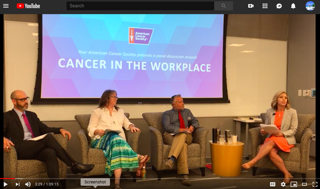 "Navigating a Cancer Diagnosis in the Workplace - On Thursday, June 6 American Cancer Society – Kansas City held our second annual Wellness Forum discussing ""Navigating a Cancer Diagnosis in the Workplace,"" hosted by our friends at JE Dunn."