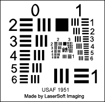SilverFast Resolution Target USAF 1951 ( Creative Commons 3.0 )