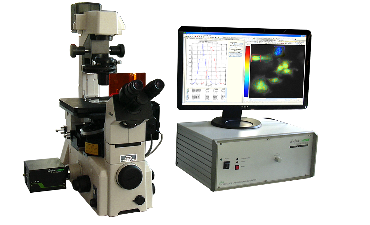 Figure 2. The LIFA system can be mounted onto any wide-field fluorescence microscope.