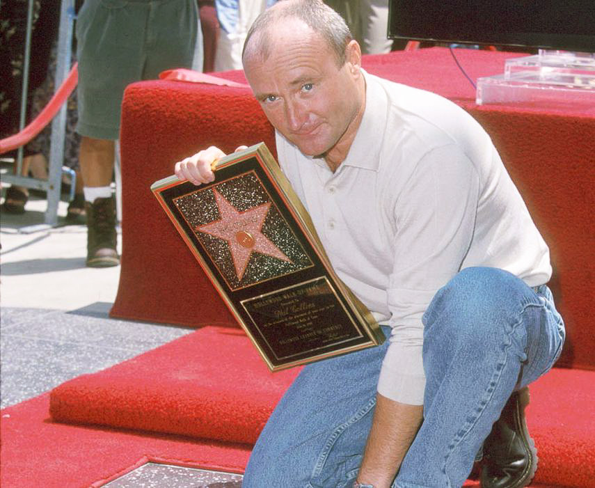 1999 - Phil Collins received a star on the Hollywood Walk of Fame.