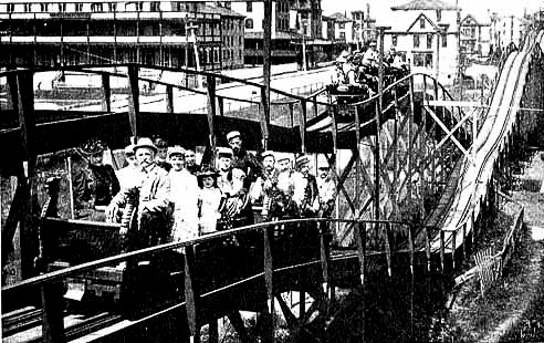 1884 - The first roller coaster in America opens at Coney Island, in Brooklyn, New York.