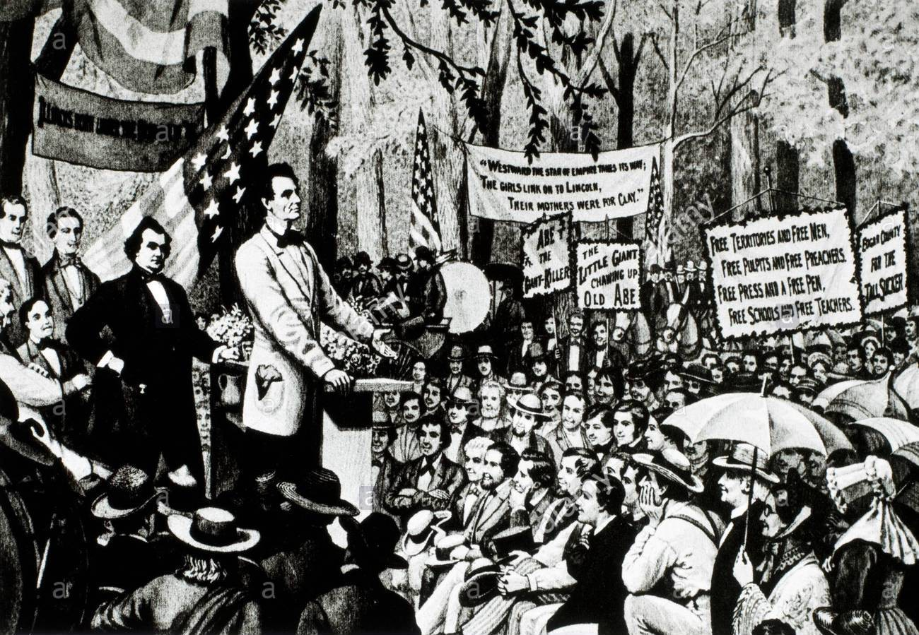 1858 - Abraham Lincoln delivers his House Divided speech.