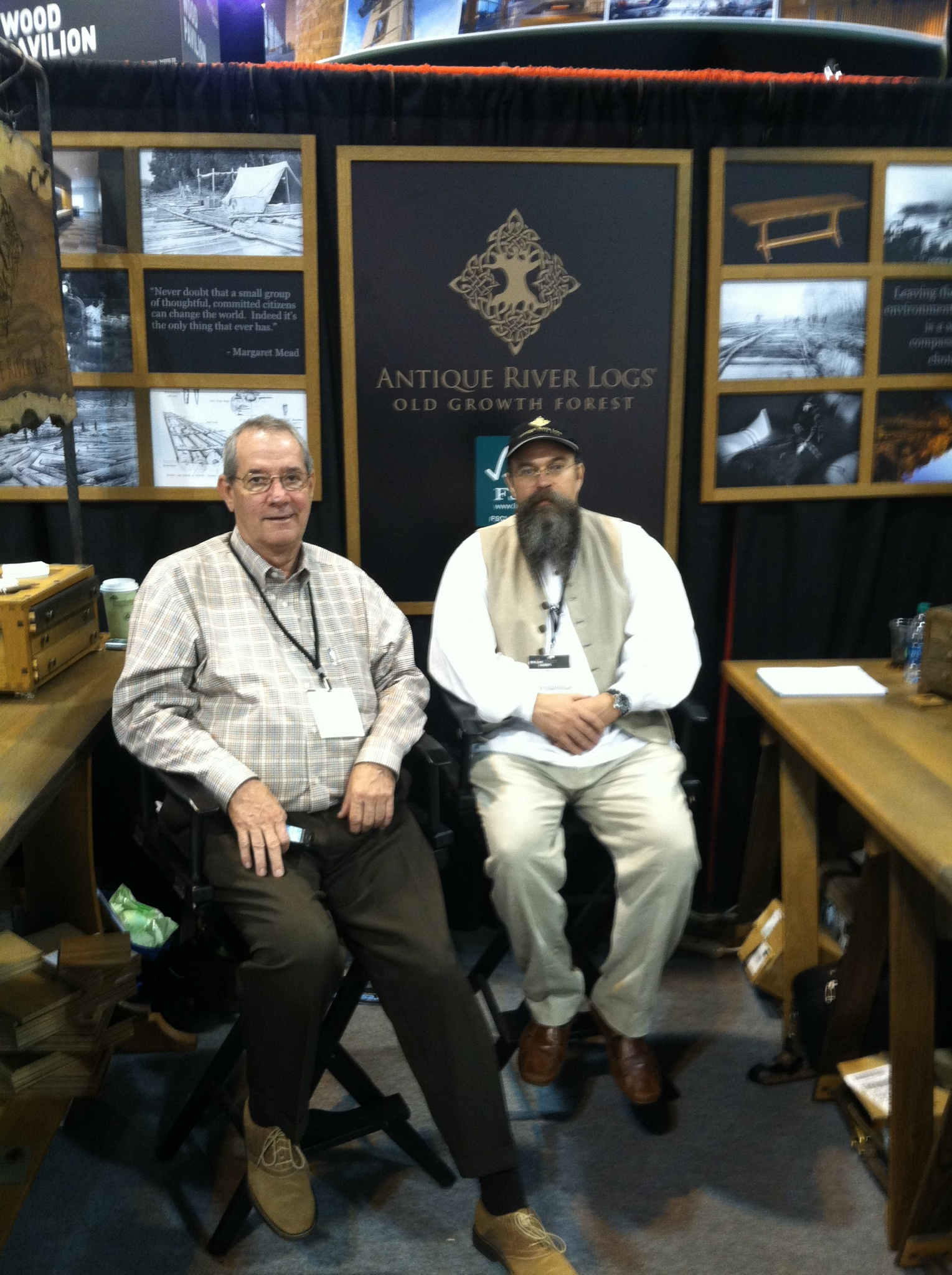 Ben and William at the 2013 AIA ( American Institute of Architects) Expoin Denver, CO.