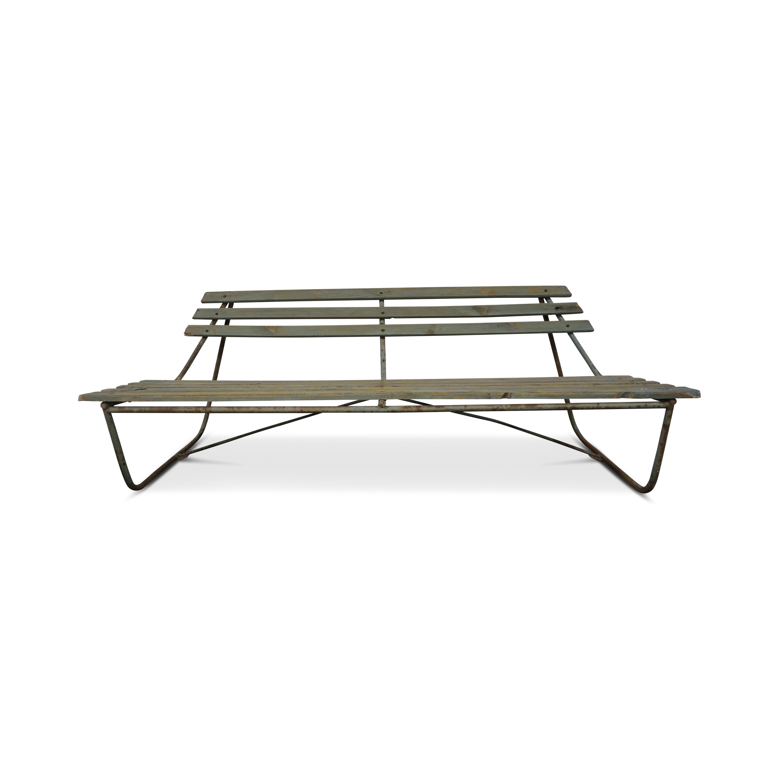 Vintage European Outdoor Bench