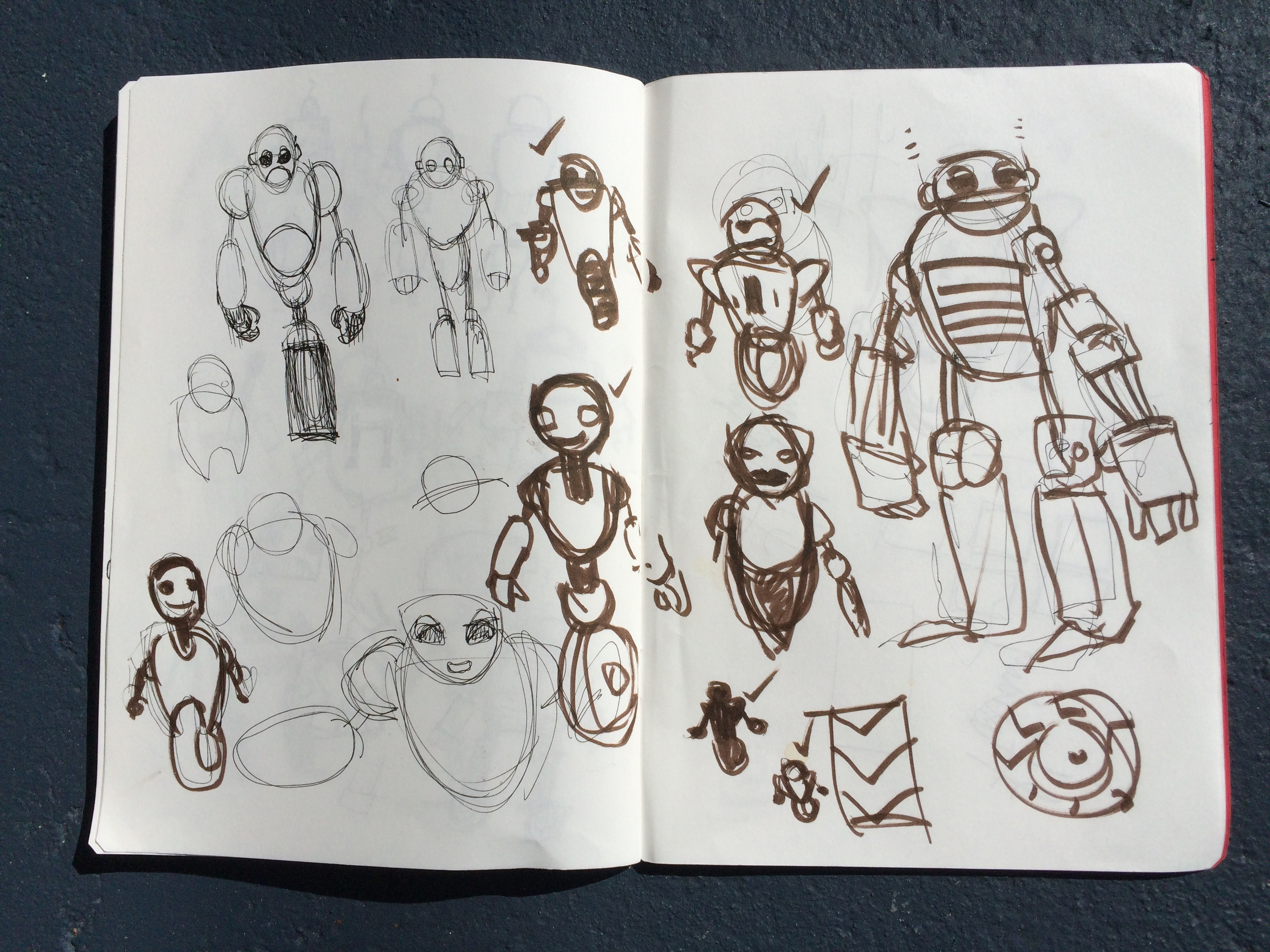 One Holiday Past Robot Concept Thumbnails 1