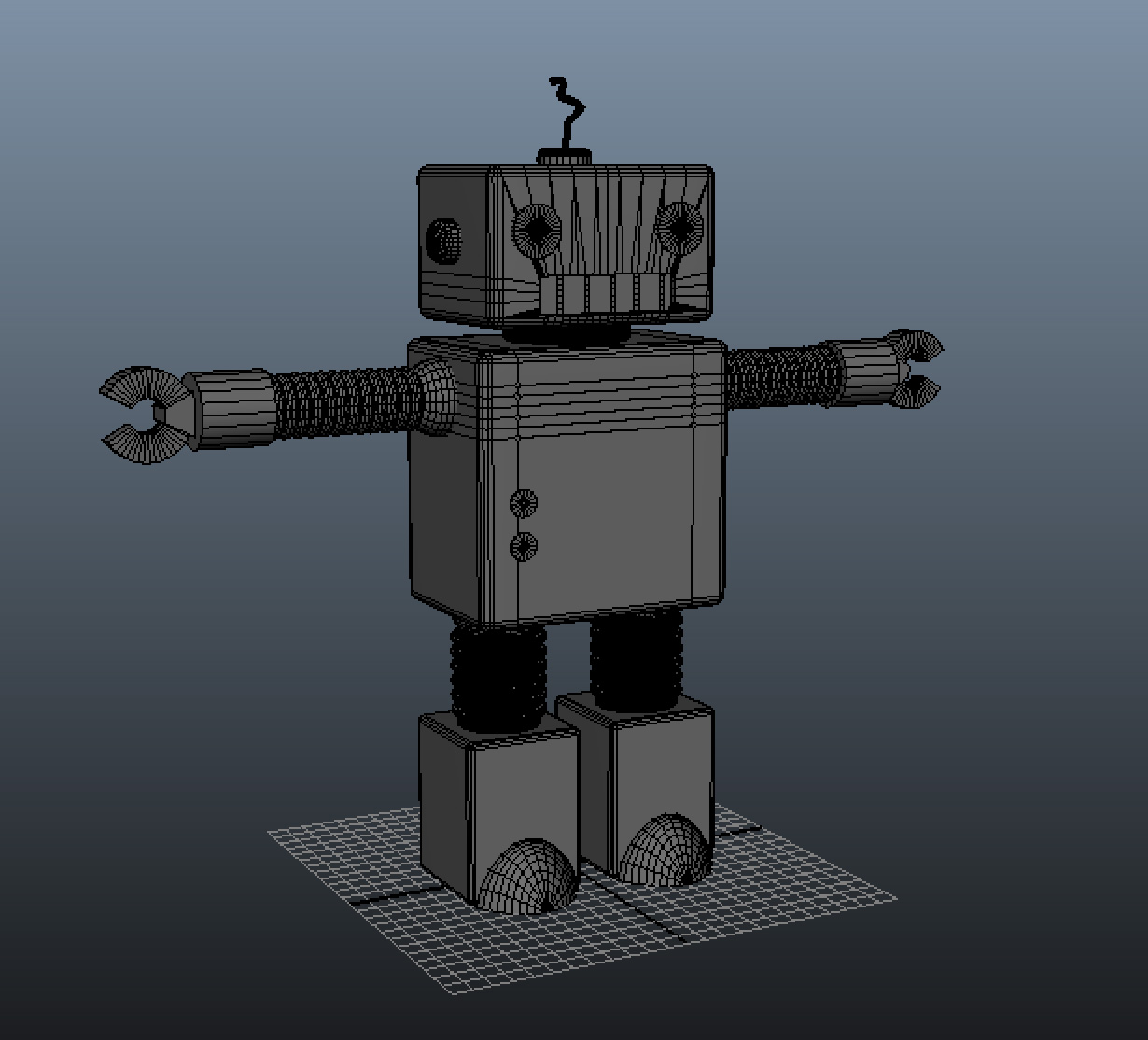 One Holiday Past Main Robot Model In Progress
