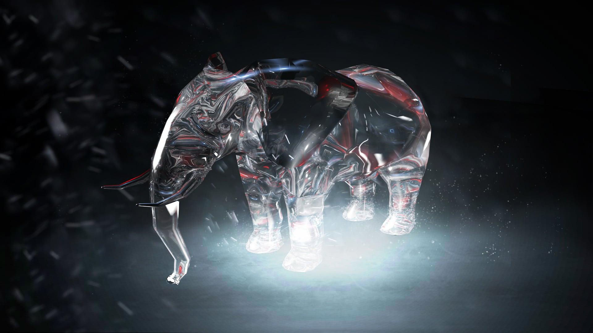 Elephant Ice Sculpt Zoo Lights Concept 2
