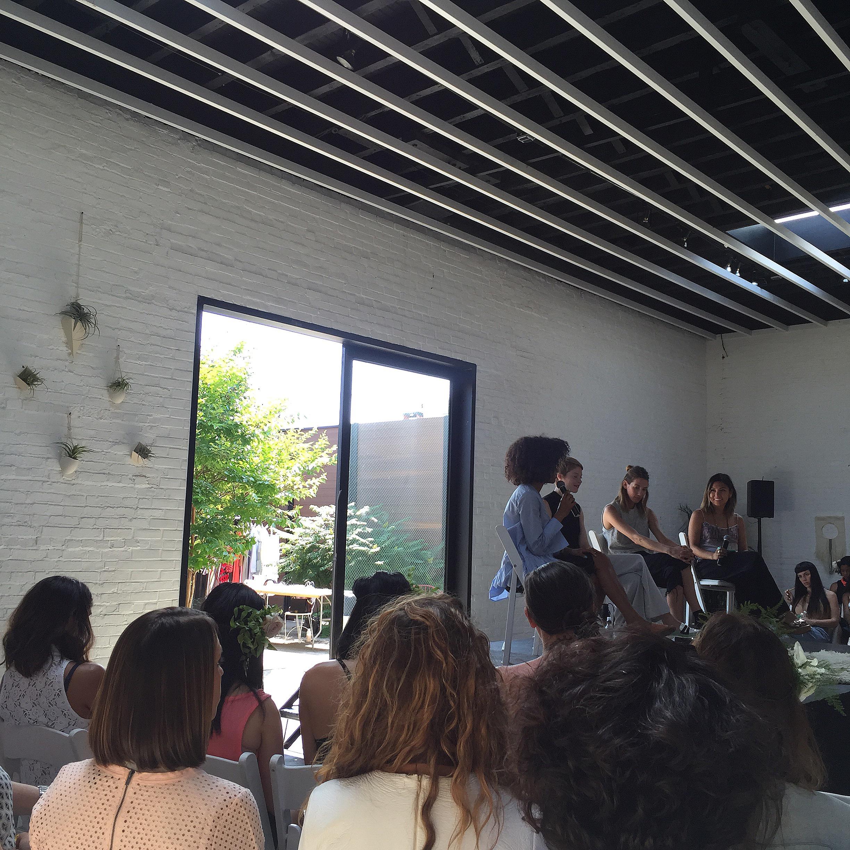The fashion panel.