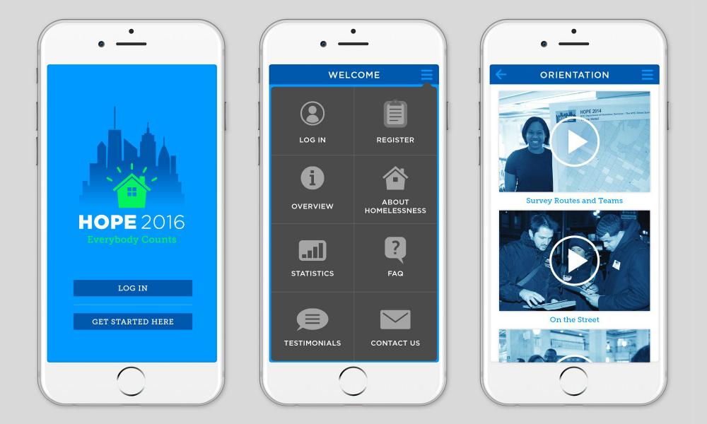Mobile app screen designs