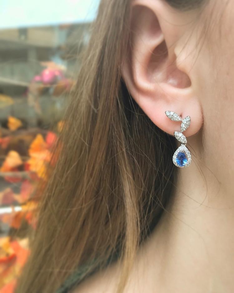 Saphire Earrings