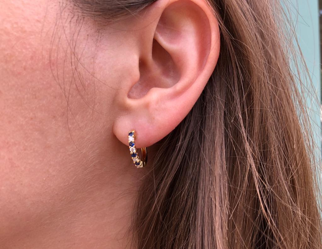 1/3ct sapphire, 1/4ct diamond, 18kt gold