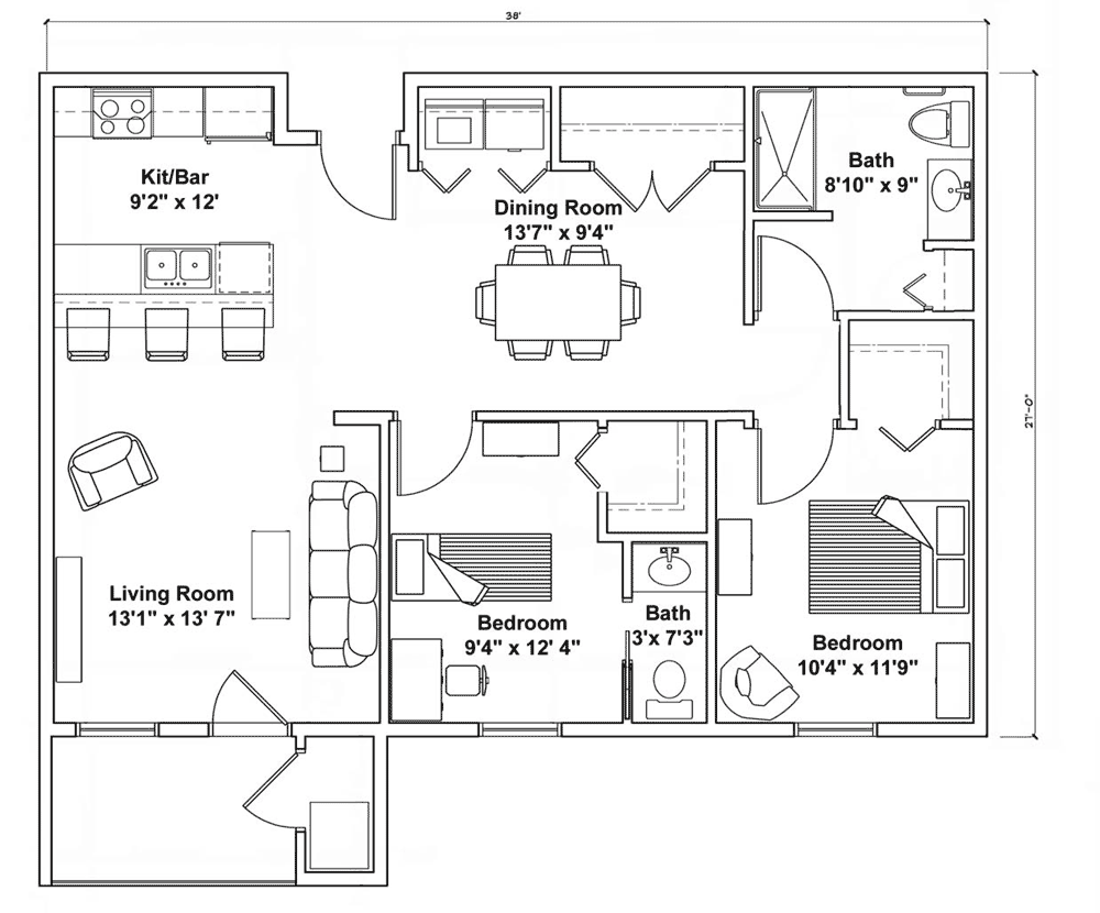 two bedroom - extended layout.png
