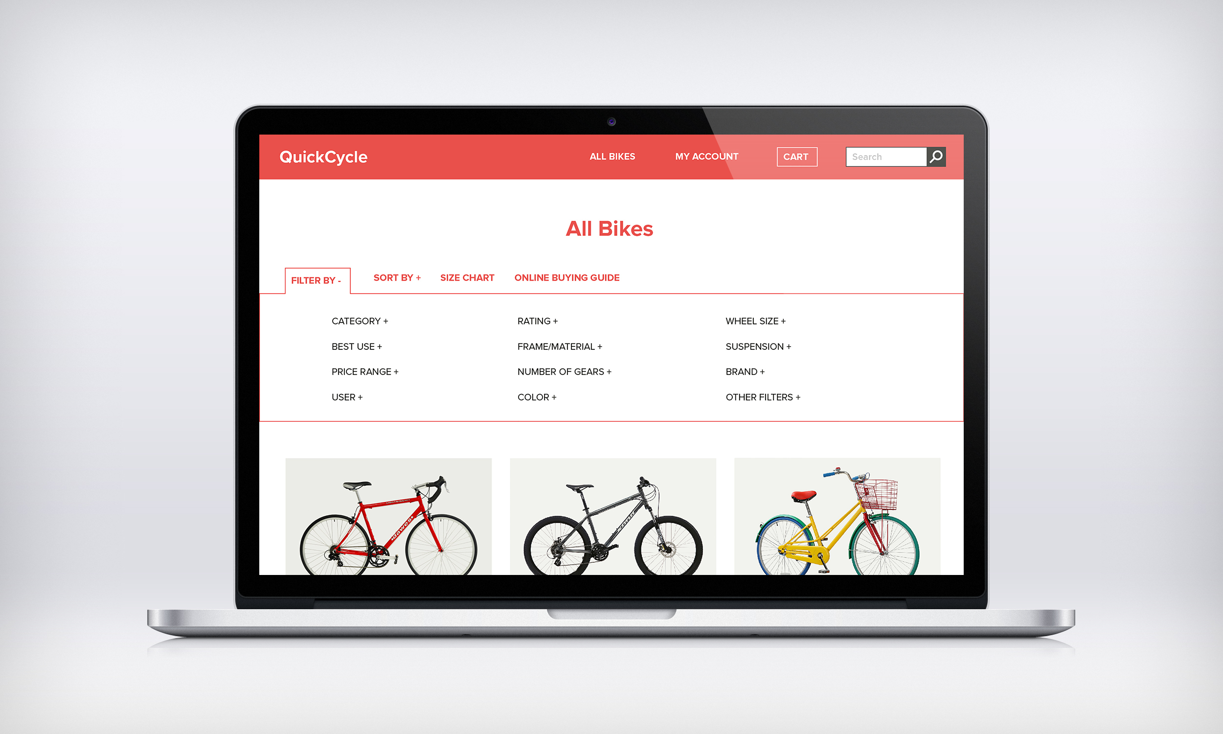 "This page allows users to filter your results when they choose the ""Browse all bikes"" page."