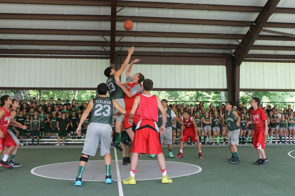 5. Play basketball in the pavillion or on the A court