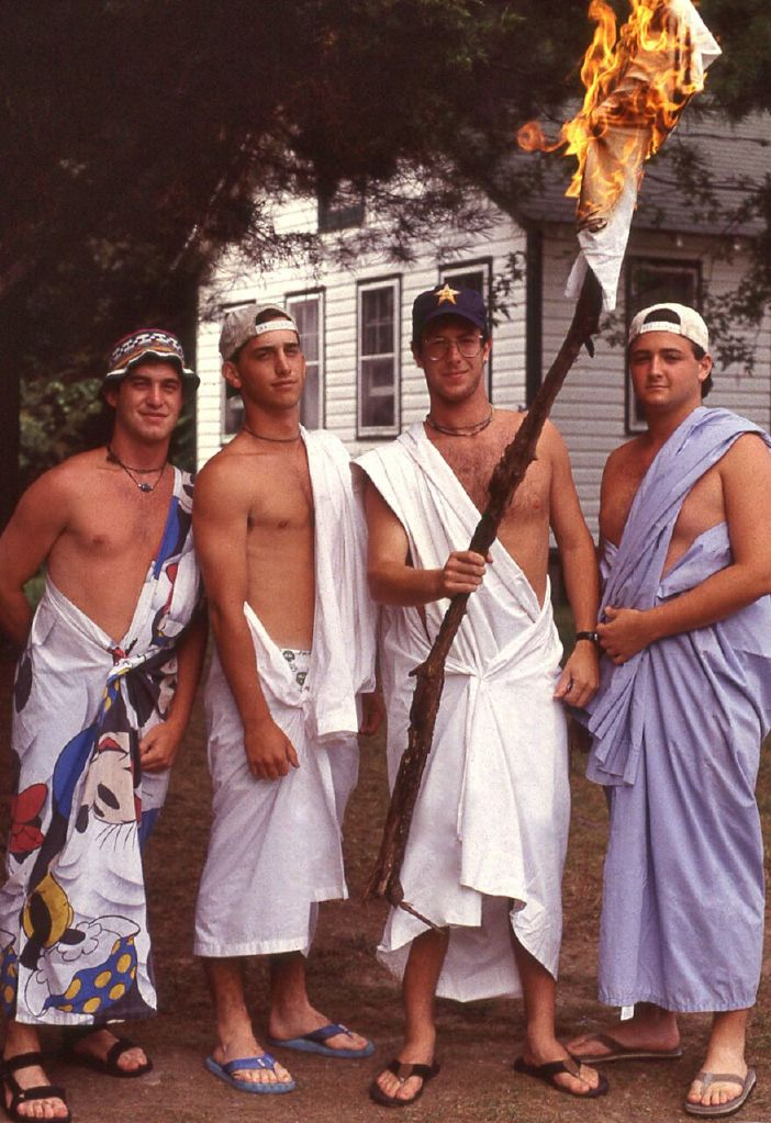 Yet another Roman Day with counselors  David Locke ,  Andrew Tannenbaum, Randy Goldstein,  and  Eric Kleiner
