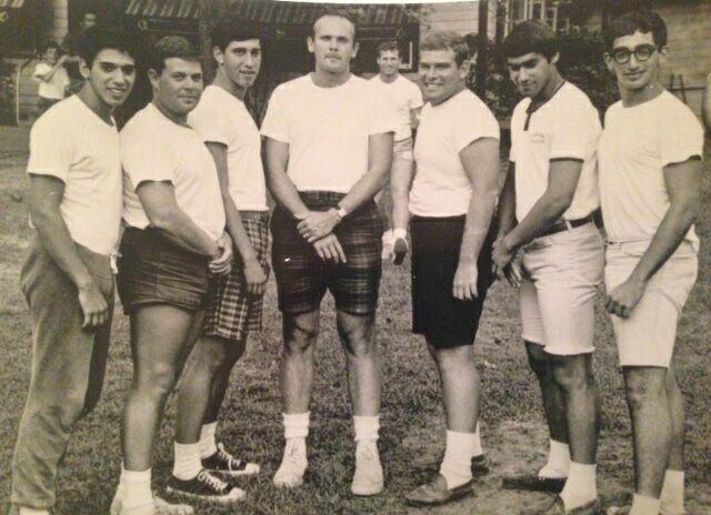 "Mid-1960s—Boys Side DLs:  Roger Lorberbaum, Bob ""Bobo"" London, Randy Shapiro, Head Counselor Stan Silverberg, Richie Hanft"