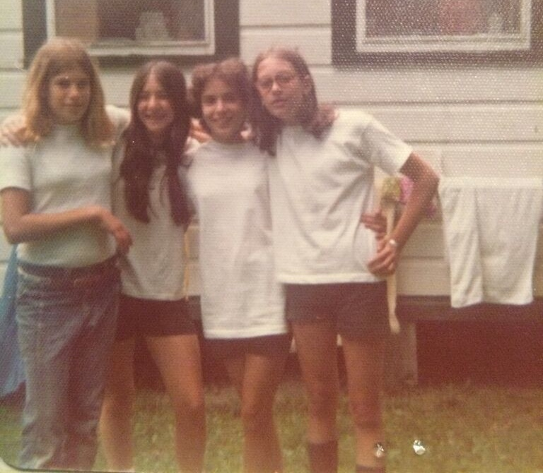 From  Carrie Kahn Bianchi — 1970s:  Carrie, Joni Leibowitz, Debbie Goodman , and  Lori Stein.