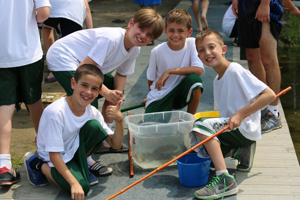 Fishing with  Landon, Jake, Alec,  and  J  osh