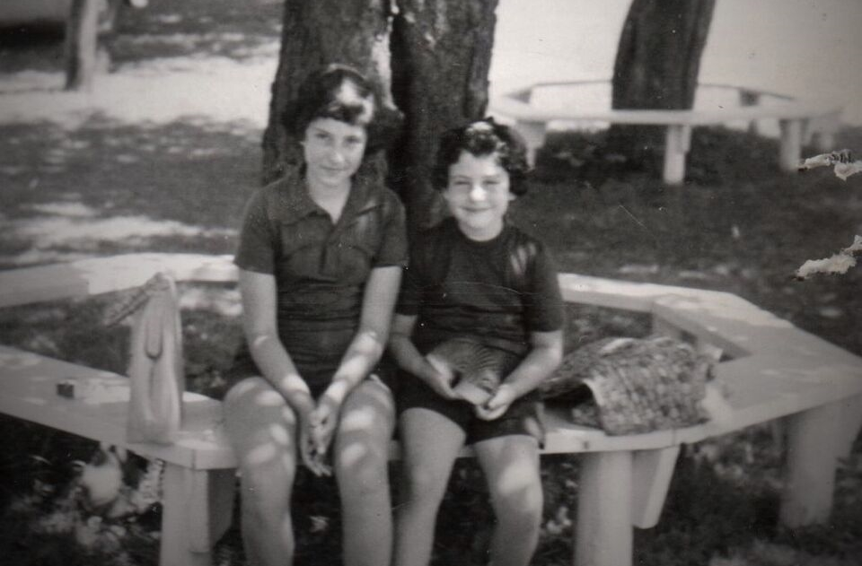 Hilde and Donna Blum July 1956