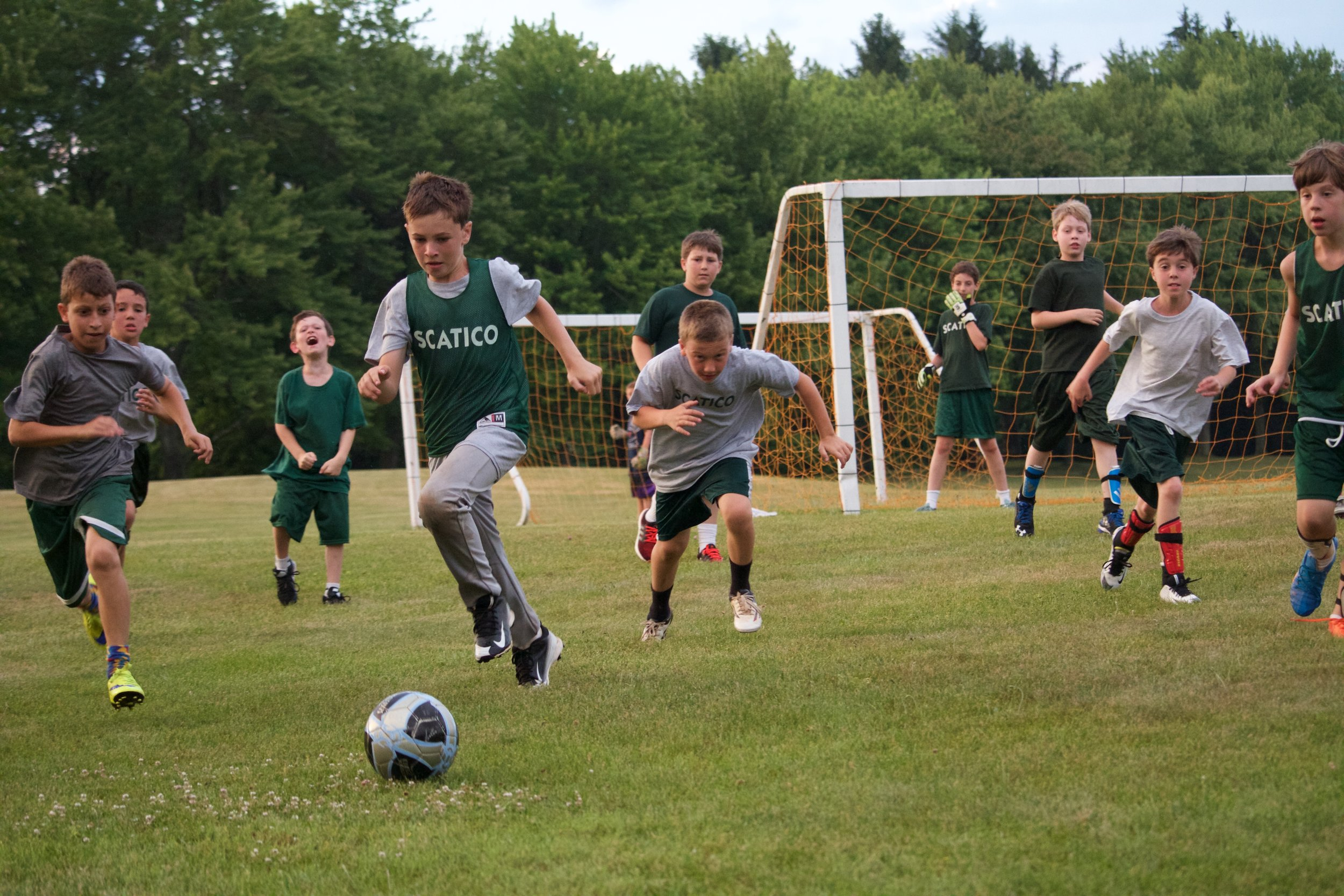 Lowe Hill Soccer League ( Oz  zeroing in on the ball).
