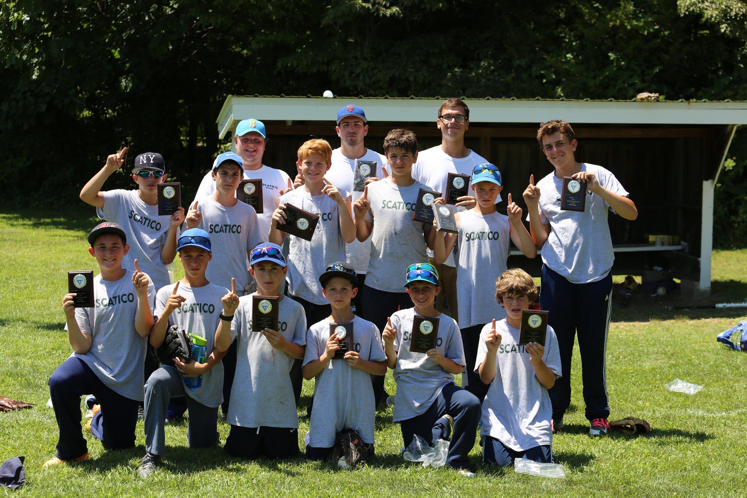 Scatico's winning under-13 1/2 tournament softball team