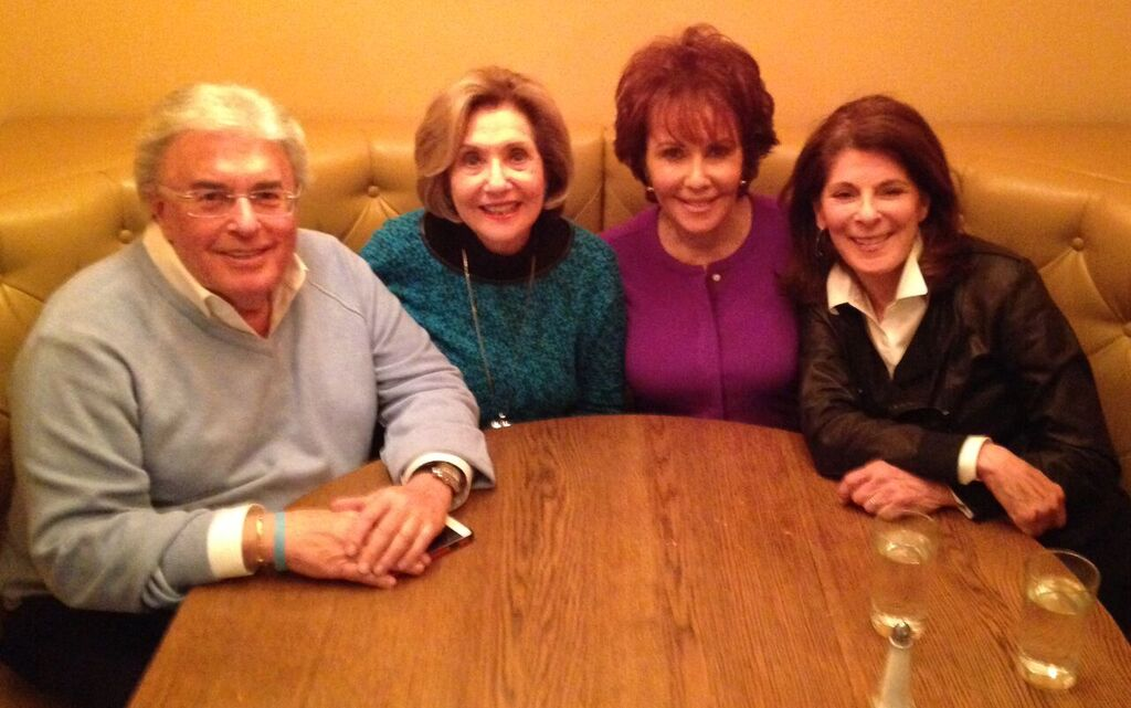 1940s-60s —April in NYC:  Dennis Rinzler, Carol Rubinson Strauss, Joan Haskel Berlly,  and  Sue Skollins Friedman.