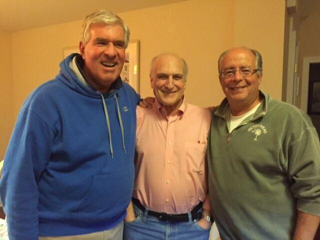 1950s-70s —Left, October in Roseland, NJ:  Steve Hanft, Jack Atkins,  and  Marc Hellman.