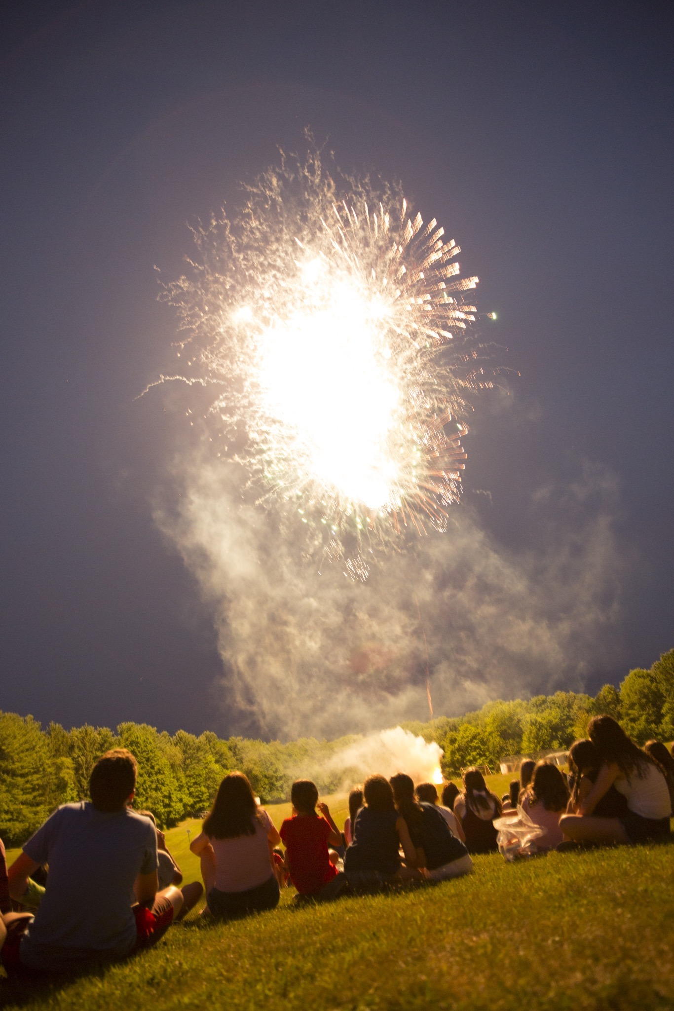 Fireworks on the 4th of July.