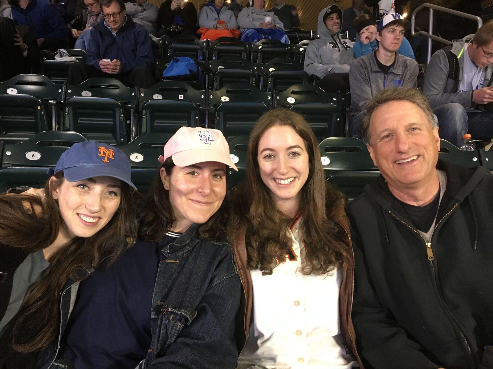 From left to right: Zoe Goldstein, Jane Rosenfeld, Sydnee Fried, David Fleischner