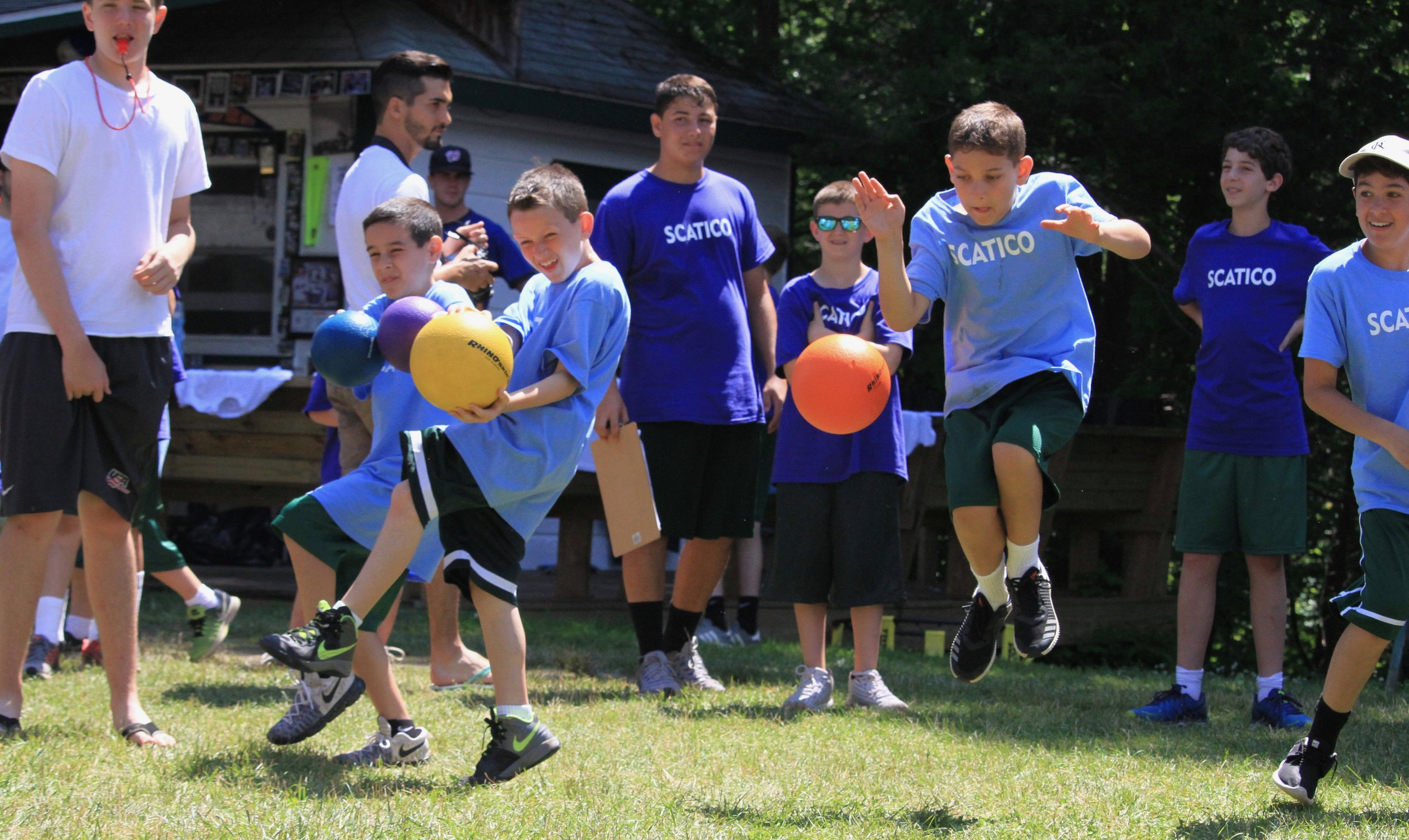 Lower Hill boys play an intense game of dodgeball for College Bowl