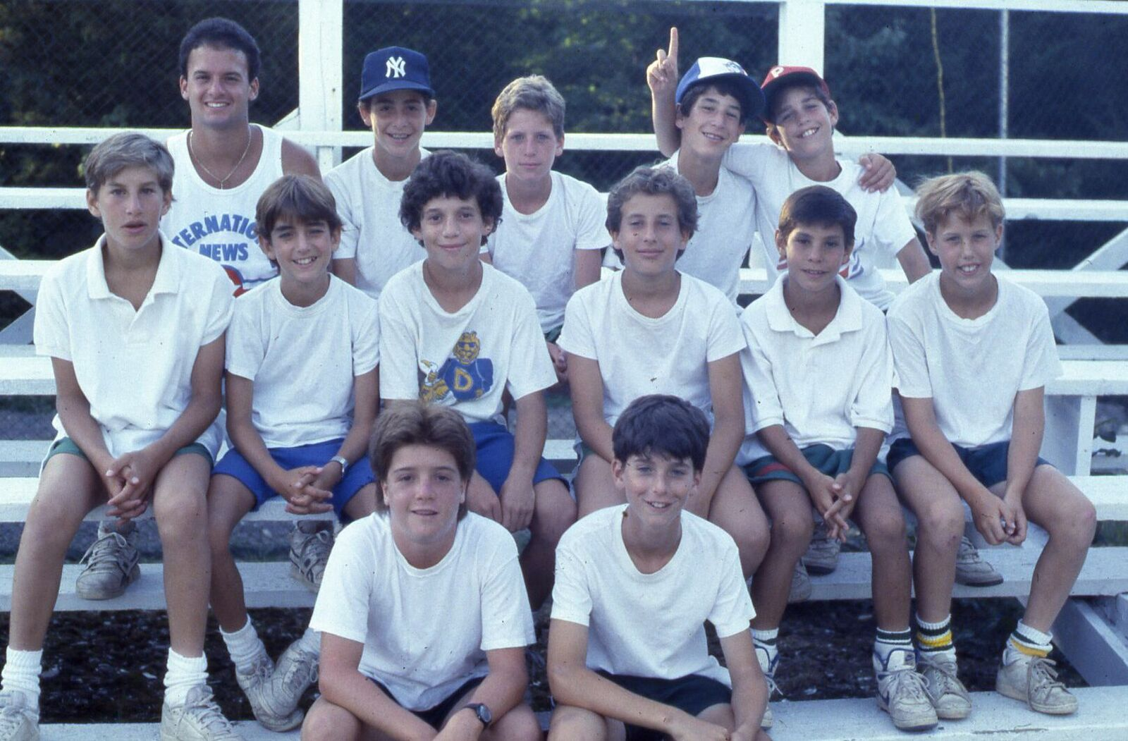 1987—Counselor David Rosh with a few Inters and Subs.