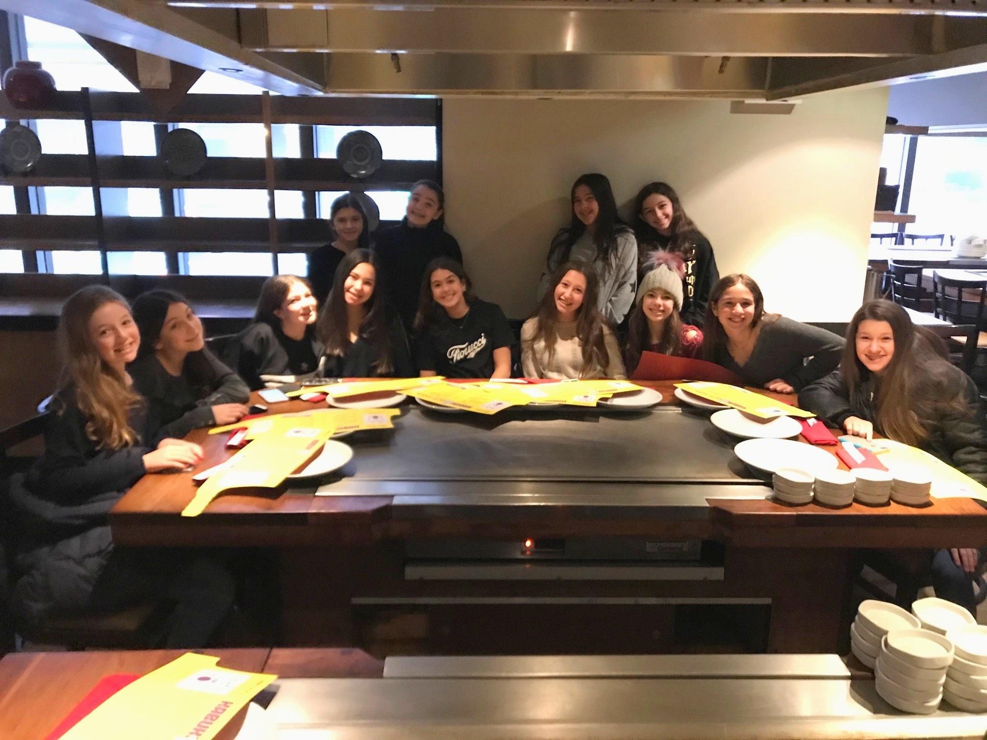 Debs at a Hibachi restaurant