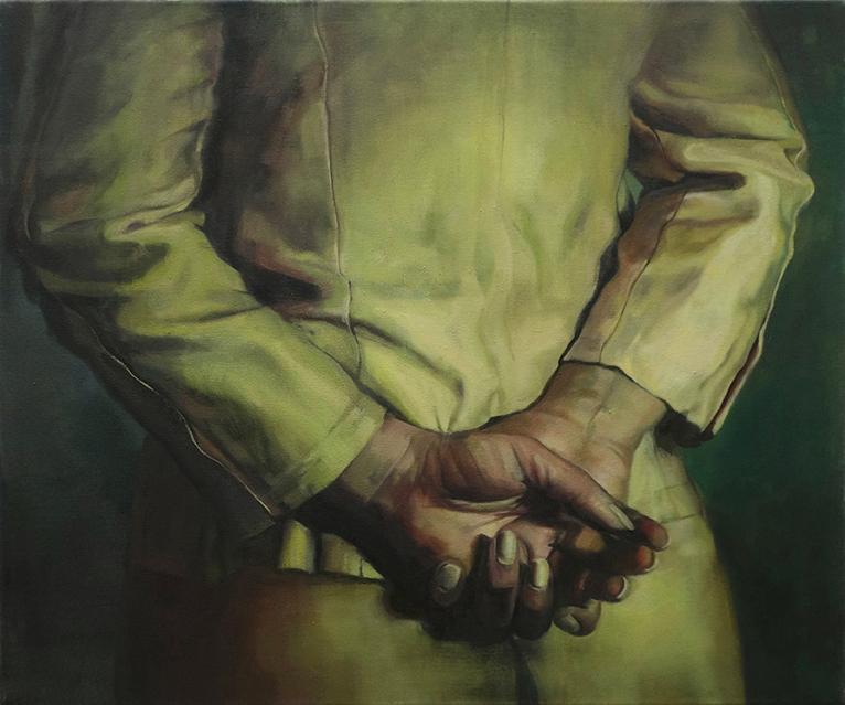 Lia Kazakou,    Untitled   , 2015, oil on canvas