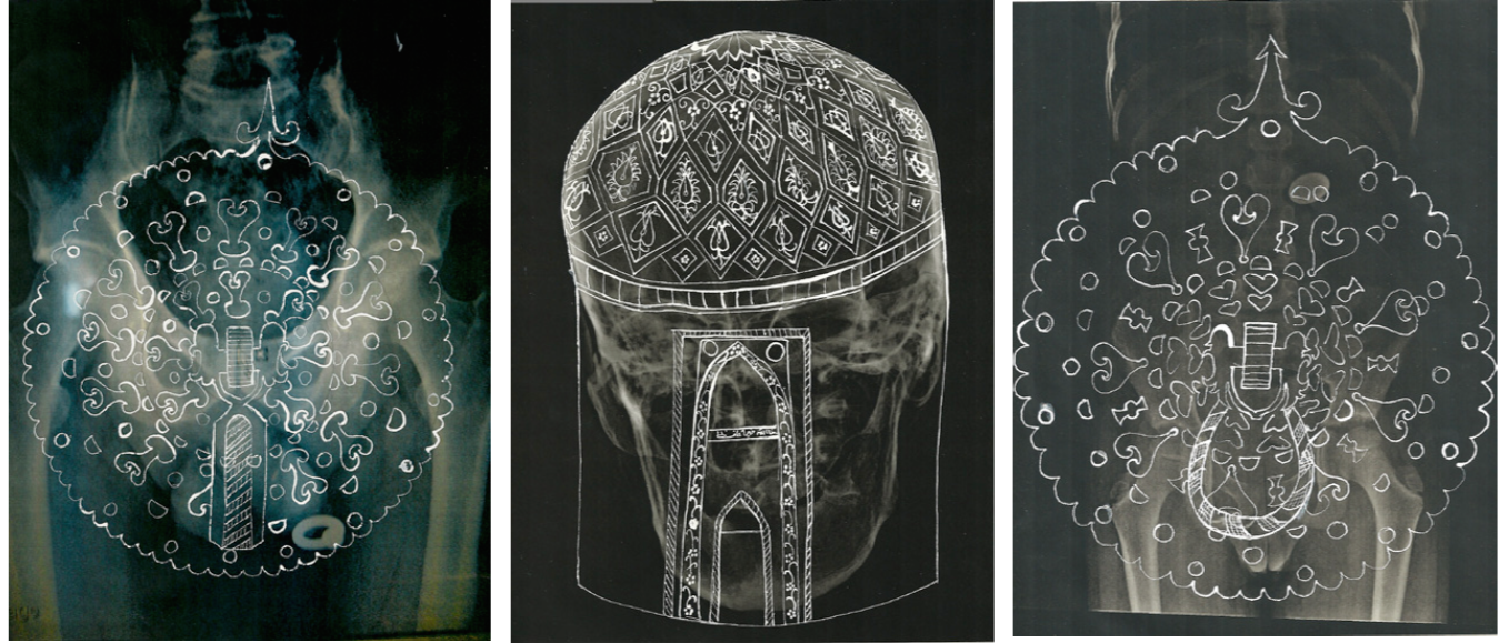 Neda Saeedi, Approximated Measures, 2016, Installation (Siebdruck auf Folie), verschiedene Maße, Courtesy die Künstlerin